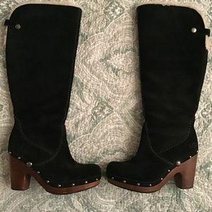 UGG S/N 3211 Black Lamb fur UGG boots